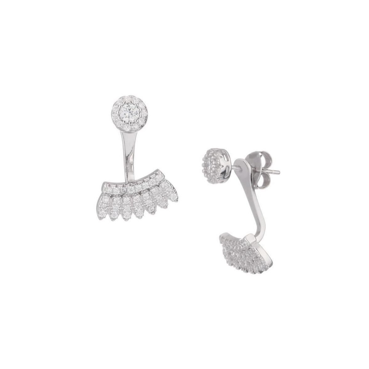 """Boucles d'oreilles argent et oxydes de zirconium """"Safari Chic"""""""