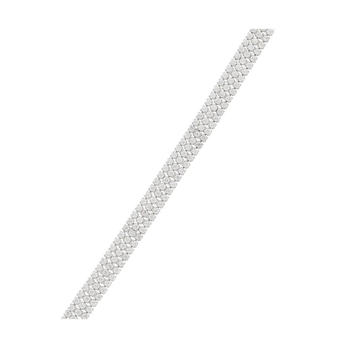 """Bracelet chaine argent et oxydes de zirconium """"Pluie d'étoiles"""""""
