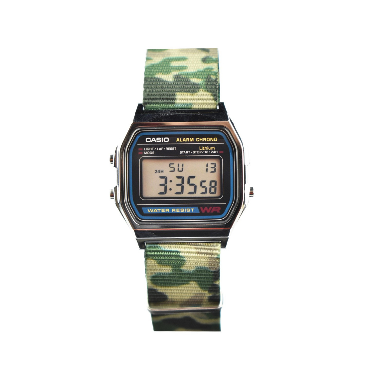 montre casio vintage 37 mm a158w nato a mes bijoux fr. Black Bedroom Furniture Sets. Home Design Ideas