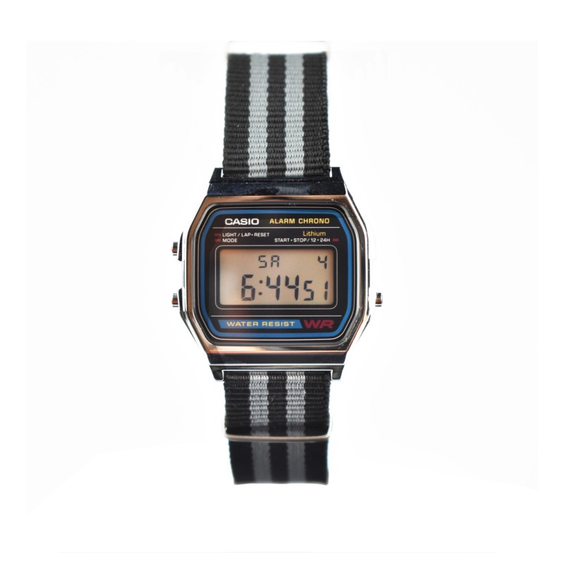 montre casio vintage 37 mm a158w nato e mes bijoux fr. Black Bedroom Furniture Sets. Home Design Ideas