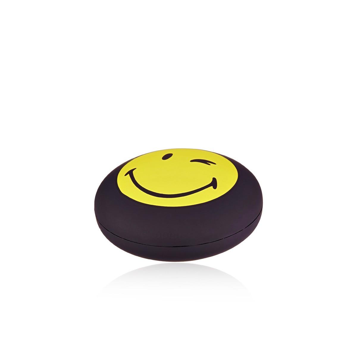 """Bracelet cordon Smiley vermeil jaune et cordon noir """"Sympa"""""""