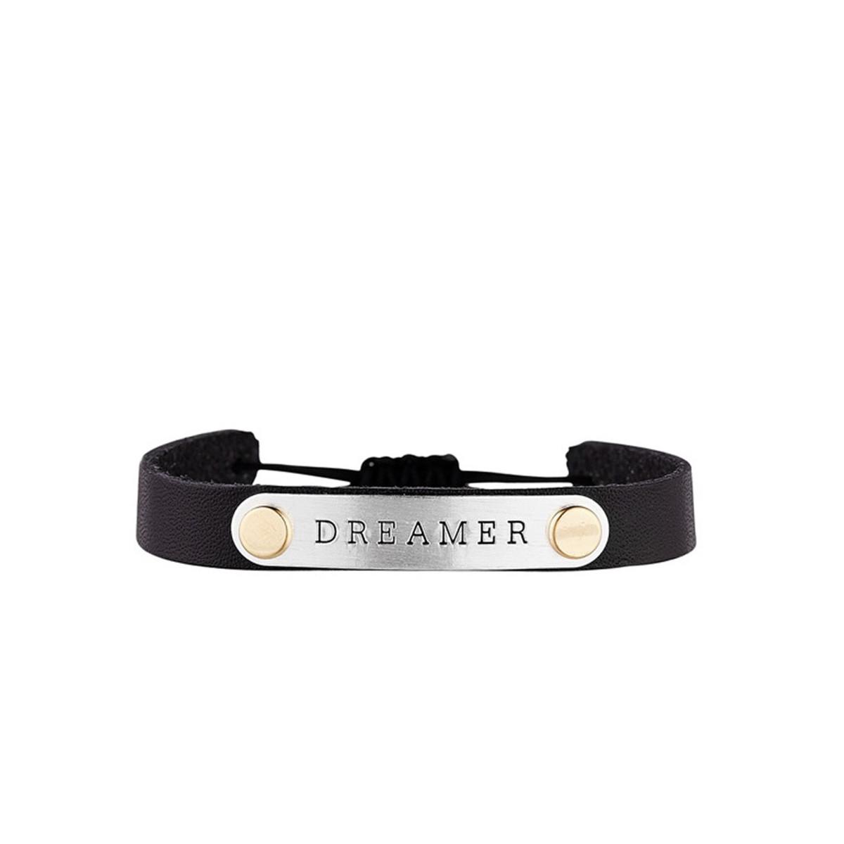 """Bracelet Jonc à message """"BRACELET"""" argenté"""