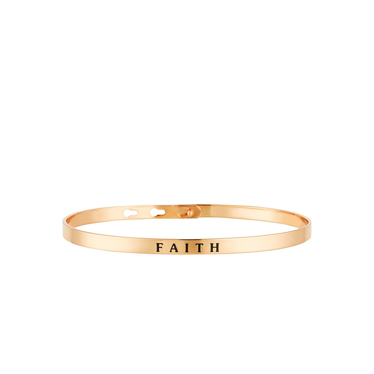 """FAITH"" bracelet jonc rosé à message"