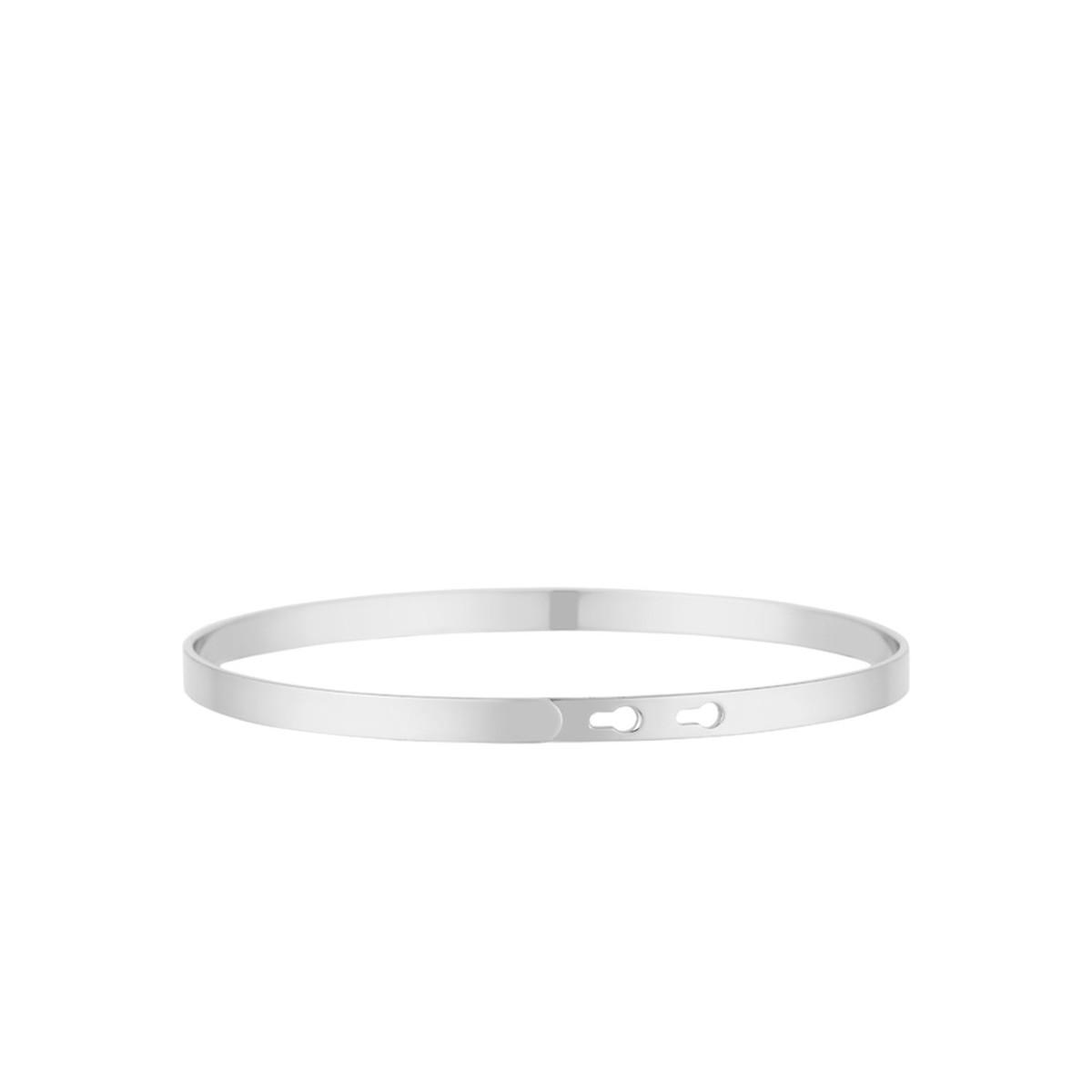 """""""APÉROPHILE"""" bracelet jonc argenté à message"""