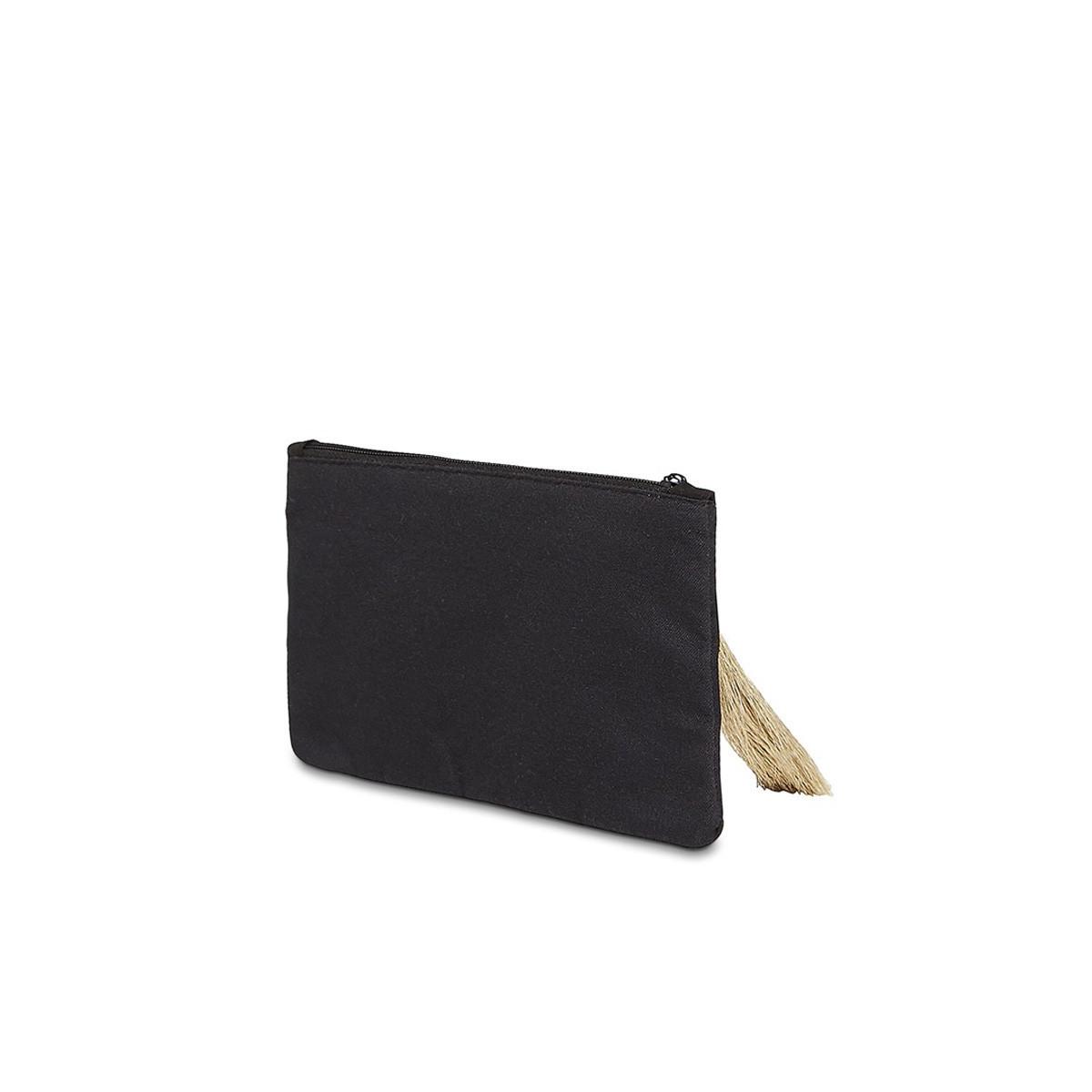 """Petite pochette à message """"SECRETS DE MAMAN"""" Noire et Doré"""