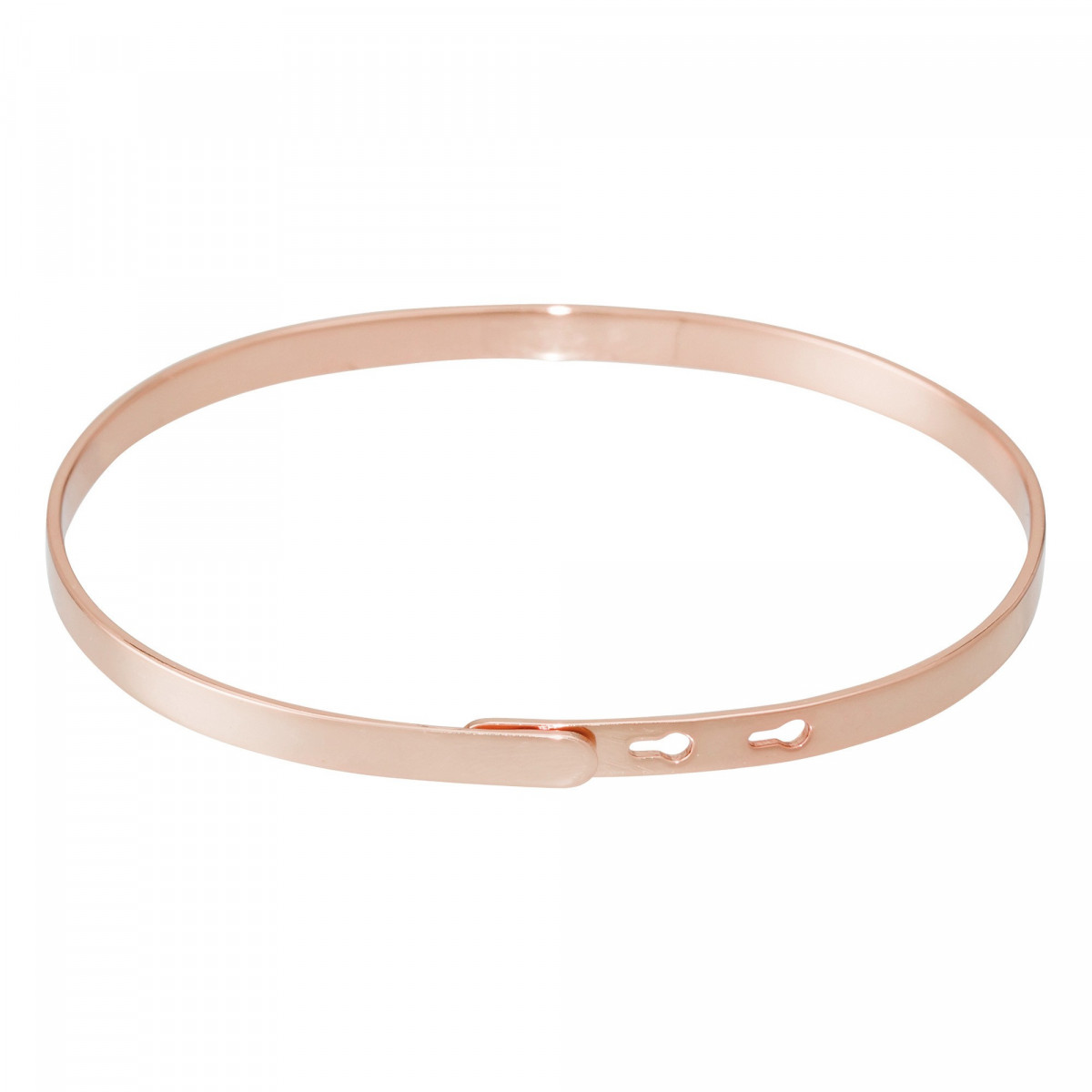 """""""PRINCESSE EN BASKET"""" bracelet jonc rosé à message"""