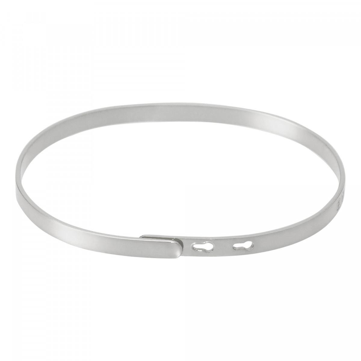 """""""BELLE COMME UN COEUR"""" bracelet jonc argenté à message"""
