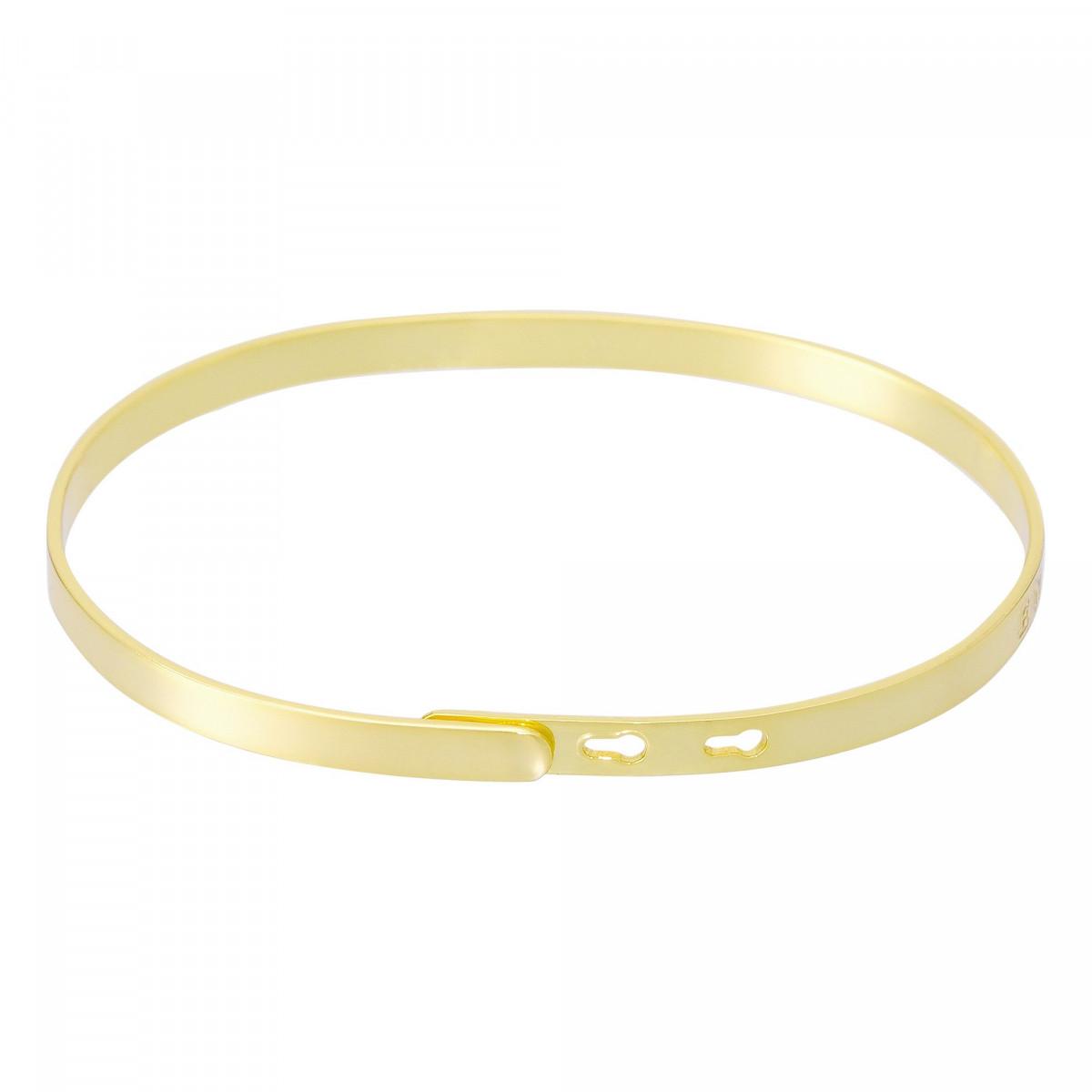 """""""SUPER TATA"""" bracelet jonc doré à message"""