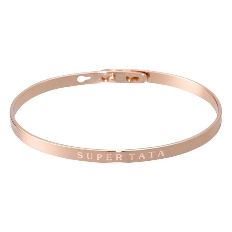 420577b5dfa Bracelet personnalisé   SUPER TATA Rosé - Mes-bijoux.fr
