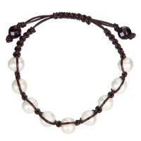 Bracelet perles de culture blanches