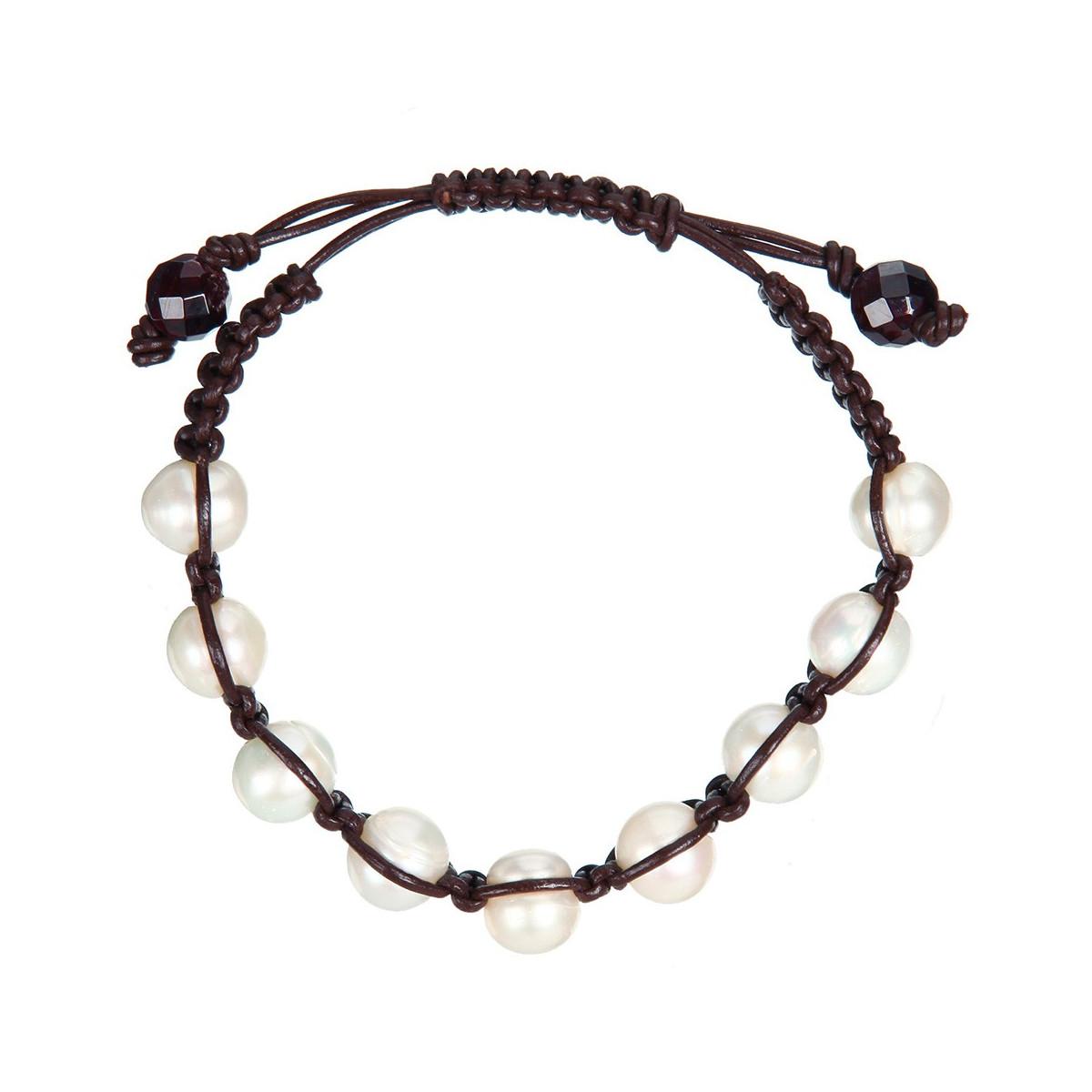 """Bracelet perles de culture blanches """"Sensations 9"""""""
