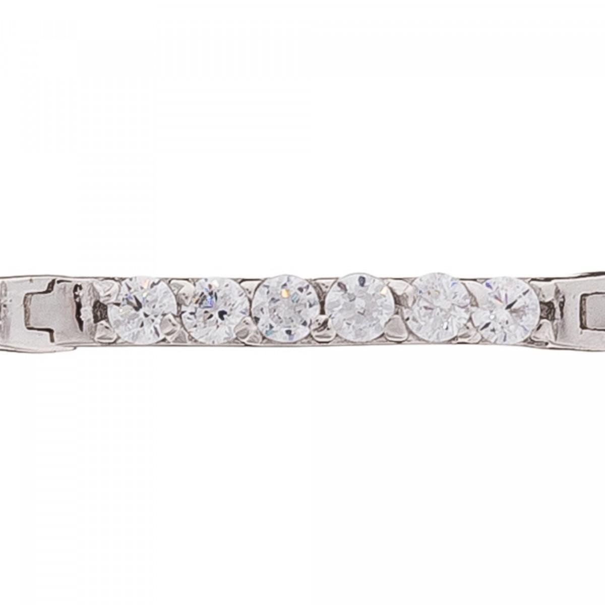 """Bracelet chaine or blanc et oxydes de zirconium """"Sincérité"""""""