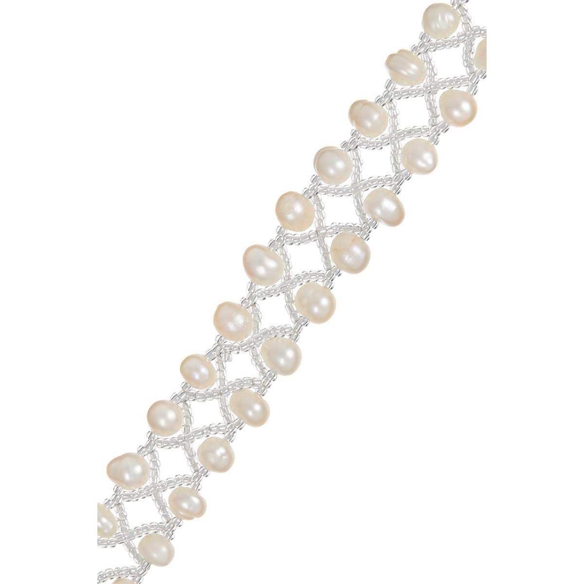 """Bracelet argent et perles de culture blanches """"Grace de perles"""""""