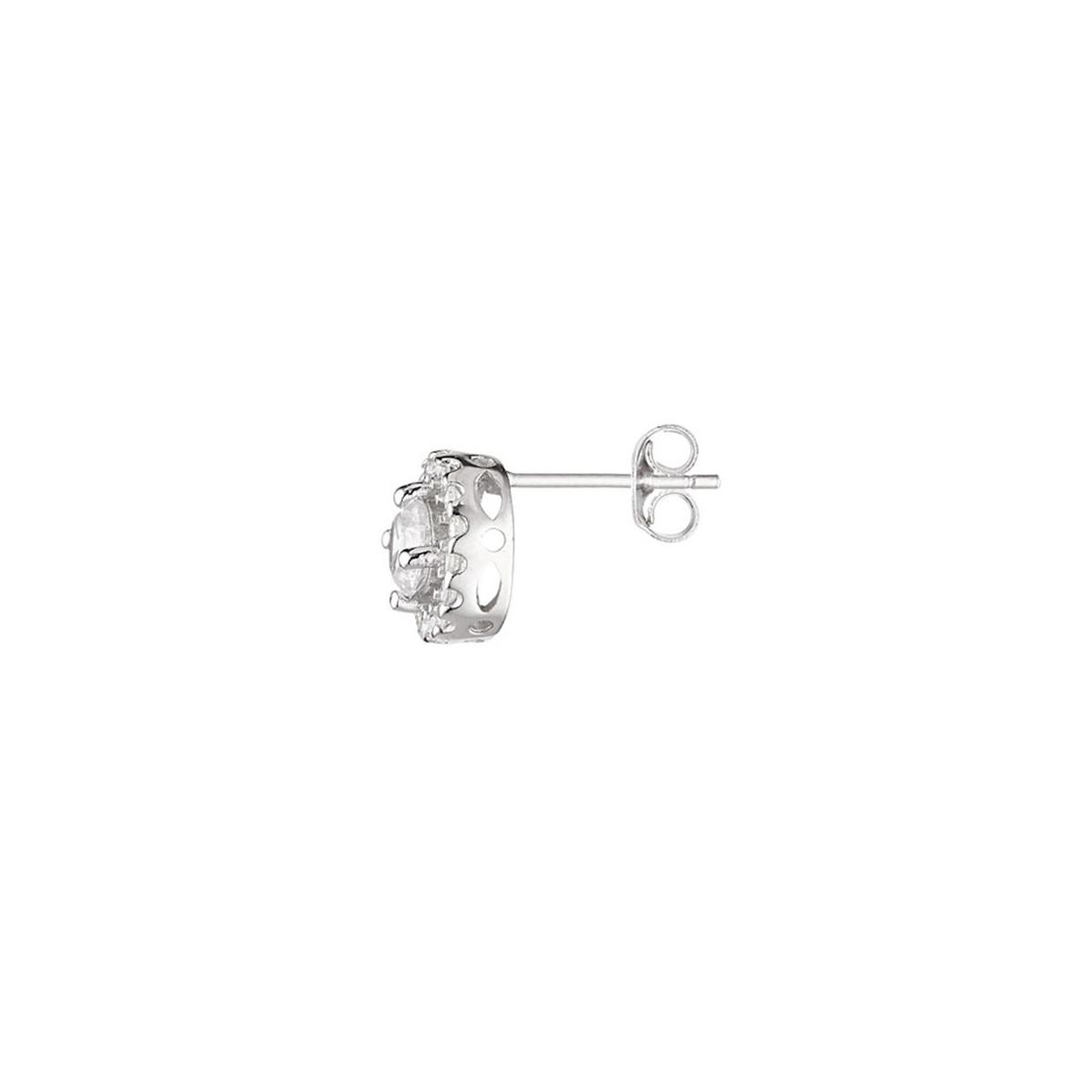 """Boucles d'oreilles argent et oxydes de zirconium """"Eclatante"""""""