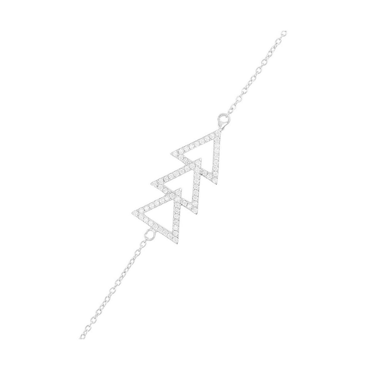 """Bracelet chaine argent et oxydes de zirconium """"Gabriella"""""""