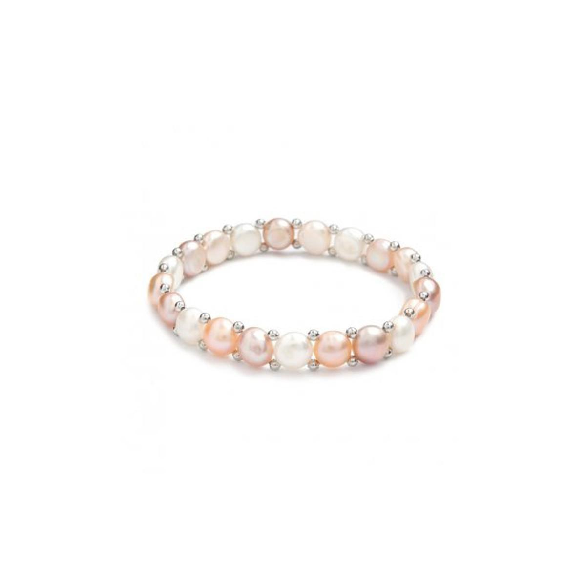 """Bracelet argent et perles de culture multicolores """"Simplicité"""""""