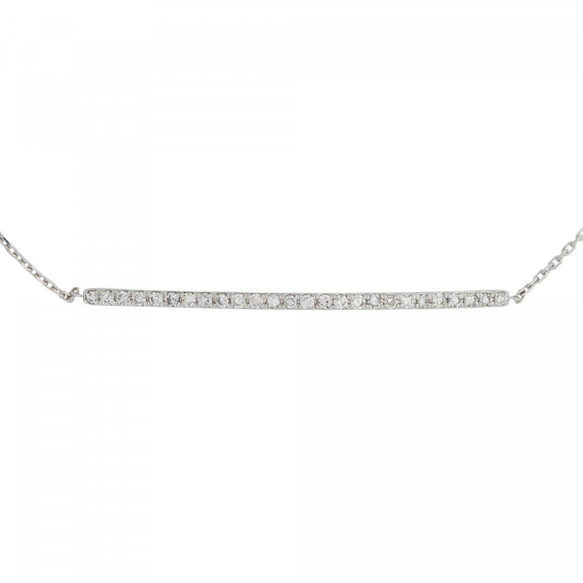 """Bracelet Or Blanc et Diamants 0,08 carat """"BARETTE LOVELY"""""""