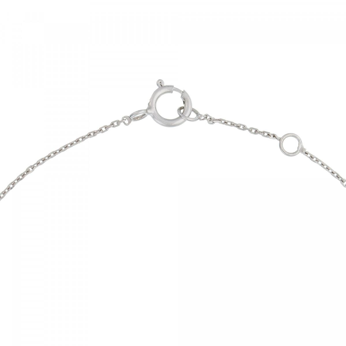 """Bracelet chaine Or Blanc et Diamants 0,08 carat """"BARETTE LOVELY"""""""