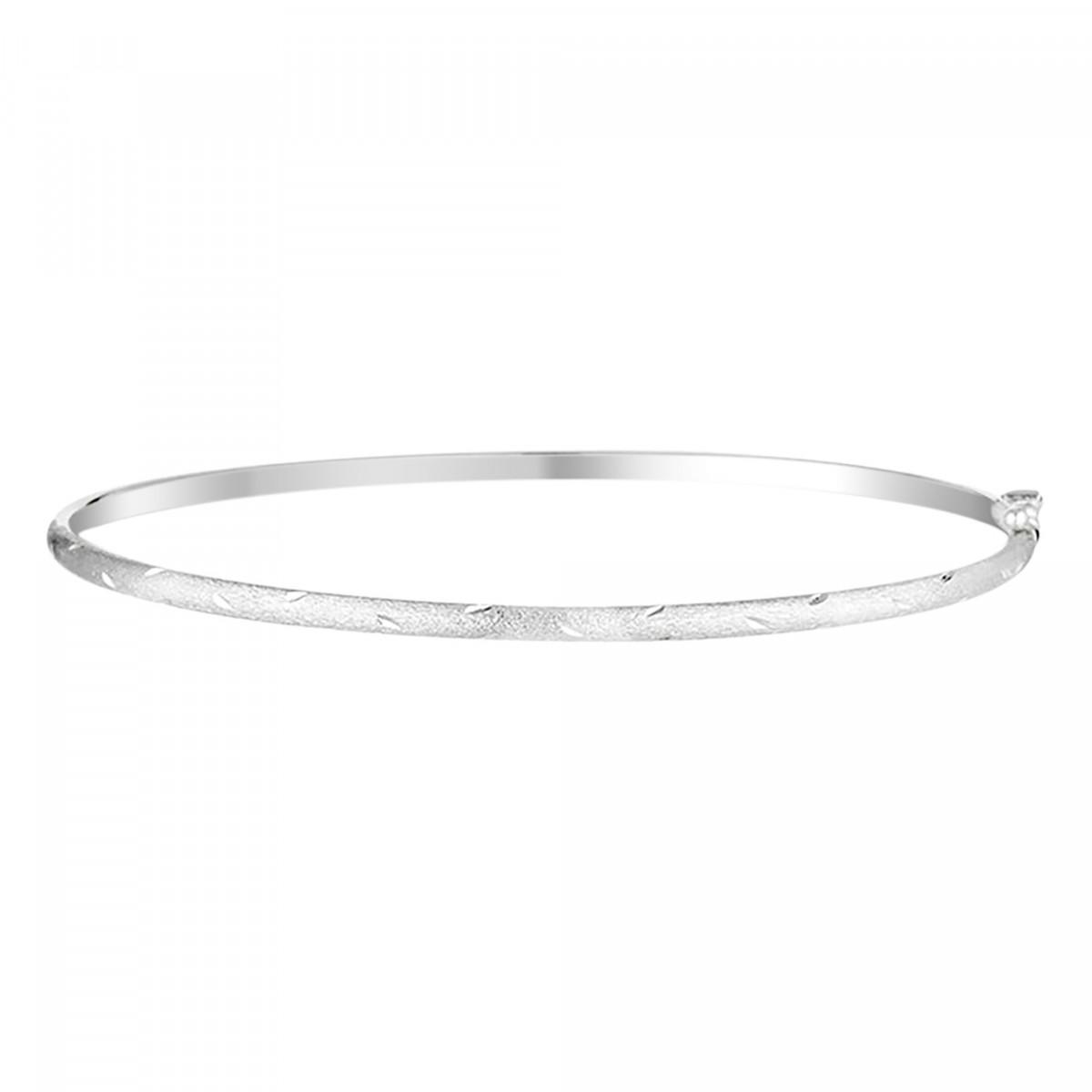 "Bracelet jonc Or Blanc ""Simple chic"""