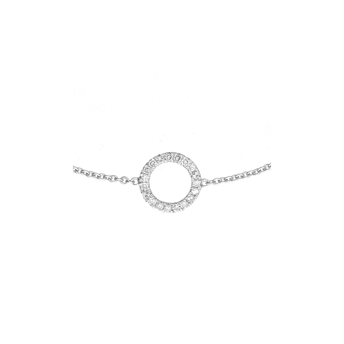 """Bracelet Or Blanc et Diamants 0,06 carat """"BULLE DE DIAMANTS"""""""