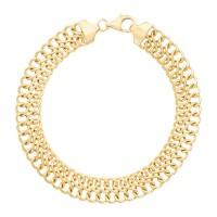 "Bracelet Or Jaune "" Maille Infini creuse"""