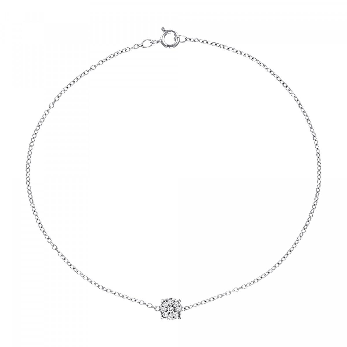 """Bracelet Or Blanc et Diamants 0,05 carat """"SIMPLY DIAMONDS"""""""