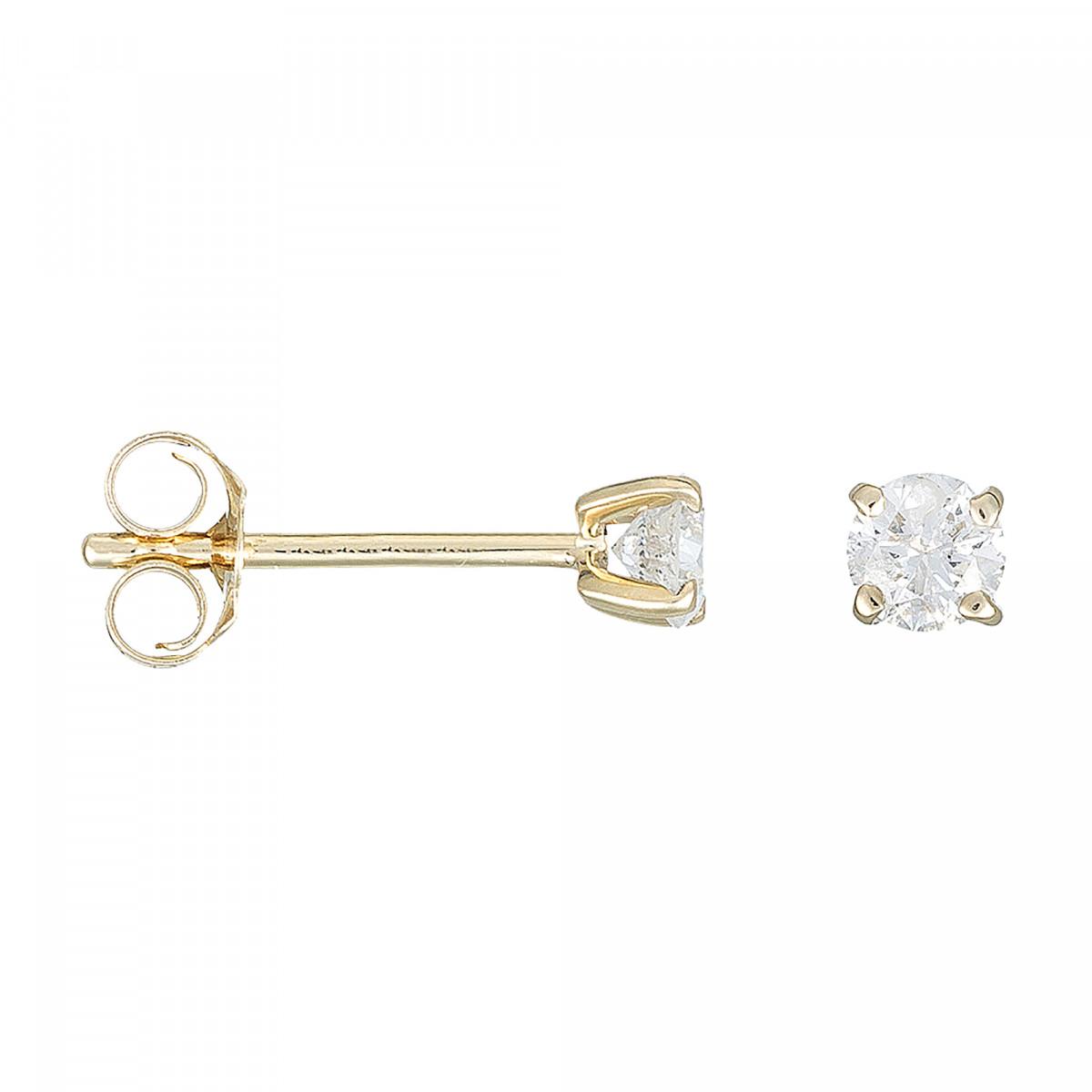 """Boucles d'oreilles Or Jaune et Diamants 0,50 carat """"MA PUCE"""""""