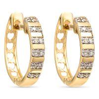 """Boucles d'oreilles Or Jaune et Diamants 0,08 carats """"Linéa"""""""