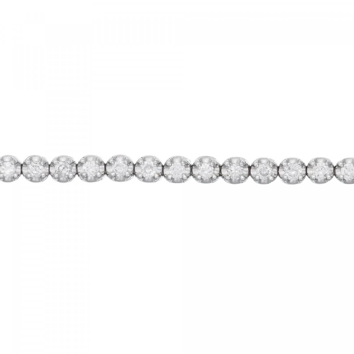 """Bracelet chaine Or Blanc et Diamants 0,5 carat """" RIVIÈRE"""""""