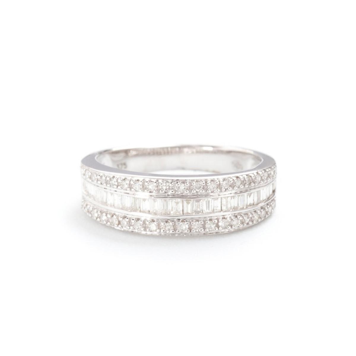 "Bague Or Blanc et Diamants 0,63 carat ""MARABELLA"""