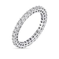 """Alliance Or Blanc et Diamants 1 carat """"Mon Tour Complet """""""