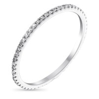 "Alliance Or Blanc et Diamants 0,16 carats ""Belle Alliance Tour Complet"""