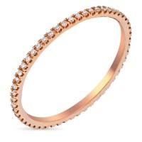 """Bague Or Rose et Diamants 0,16 carats """"Belle Alliance Tour Complet"""""""