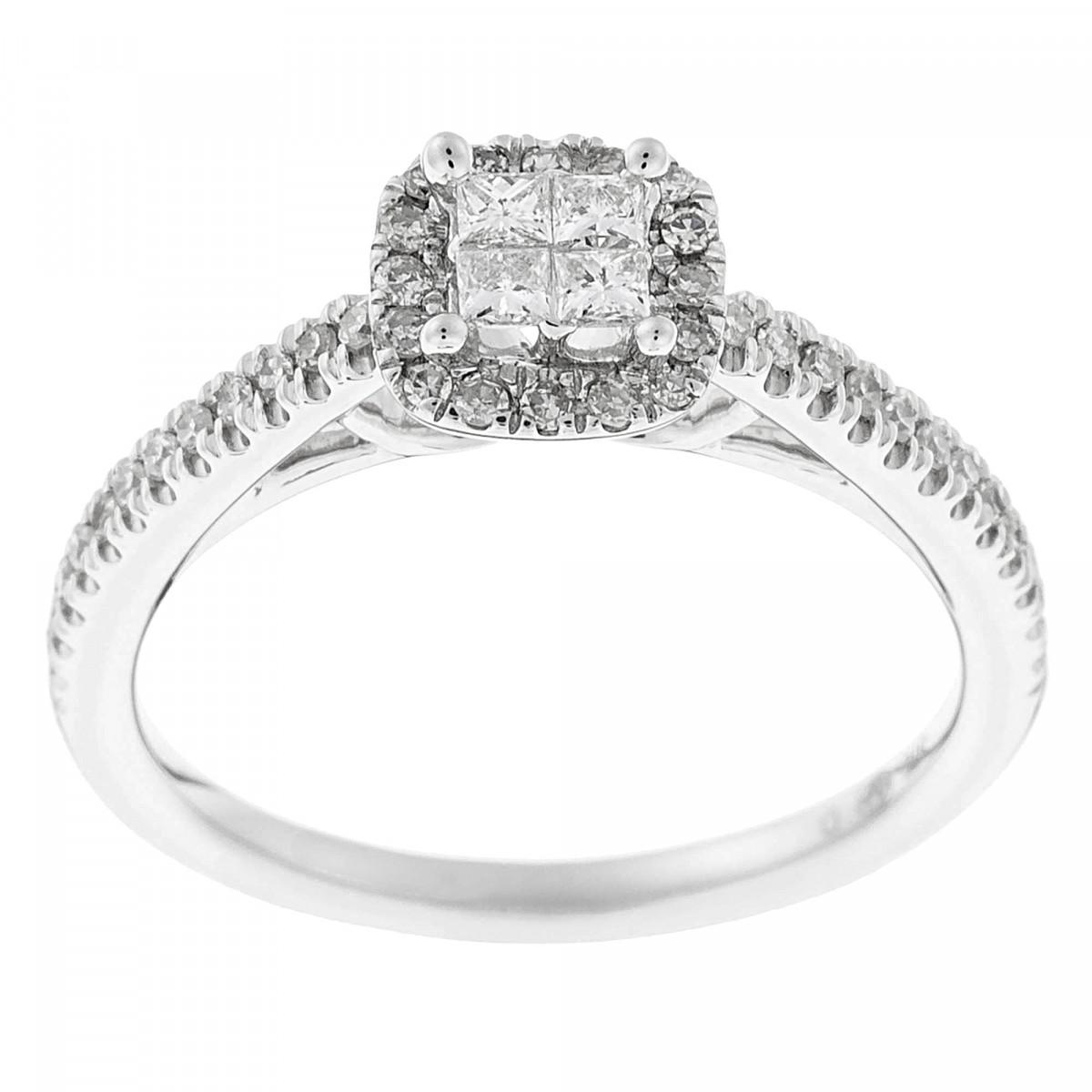 """Duo Solitaire Alliance Or Blanc et Diamants 0,52 carat """"BRILLANT DUO"""""""