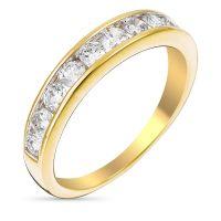 """Alliance Or Jaune et Diamants 0,75 carats """"Alliance Rail"""""""