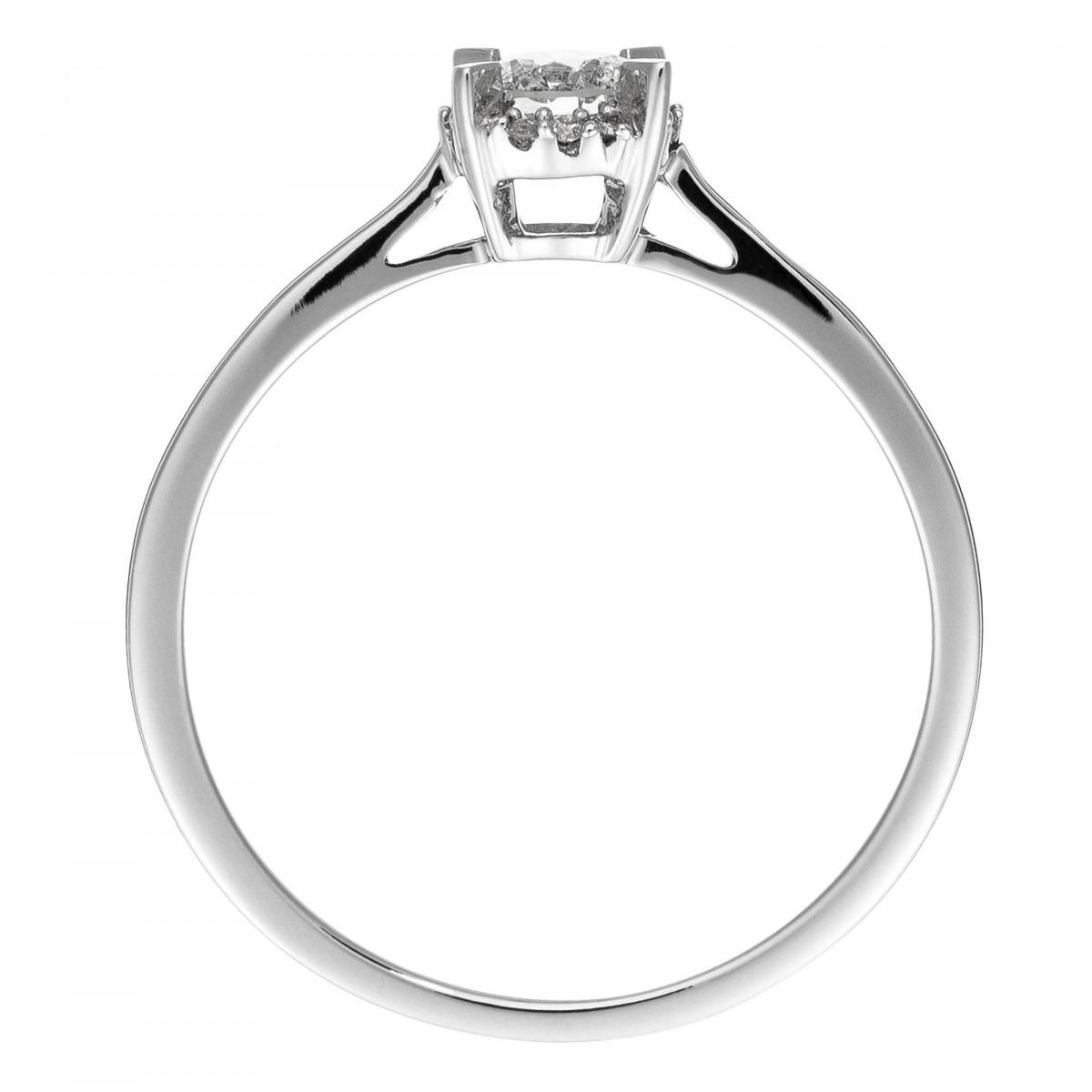 """Solitaire Or Blanc et Diamants 0,10 carat """"AMOUREUSE"""""""