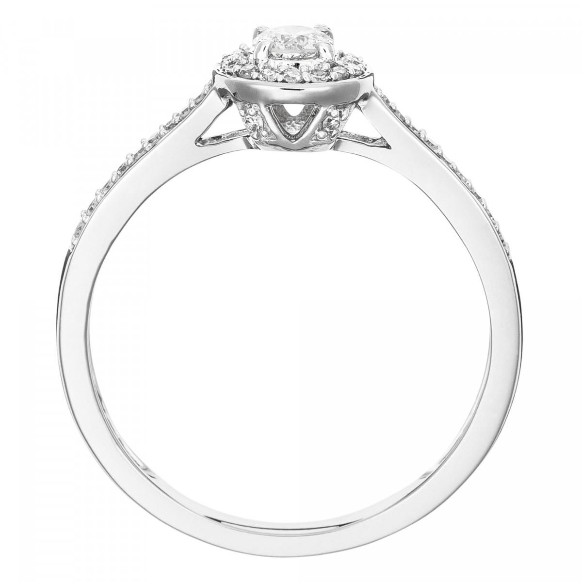 """Solitaire Or Blanc et Diamants 0,30 carat """"BRILLANT SOMPTUEUX"""""""