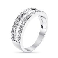 "Bague Or Blanc et Diamants 0,63 carats ""Marabella"""