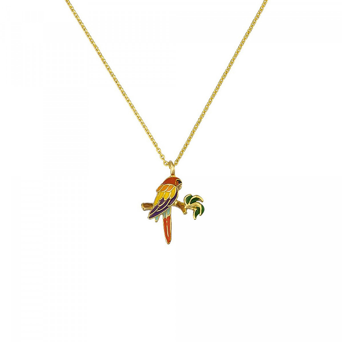"Collier laiton Doré ""Jungle Luxuriante"""