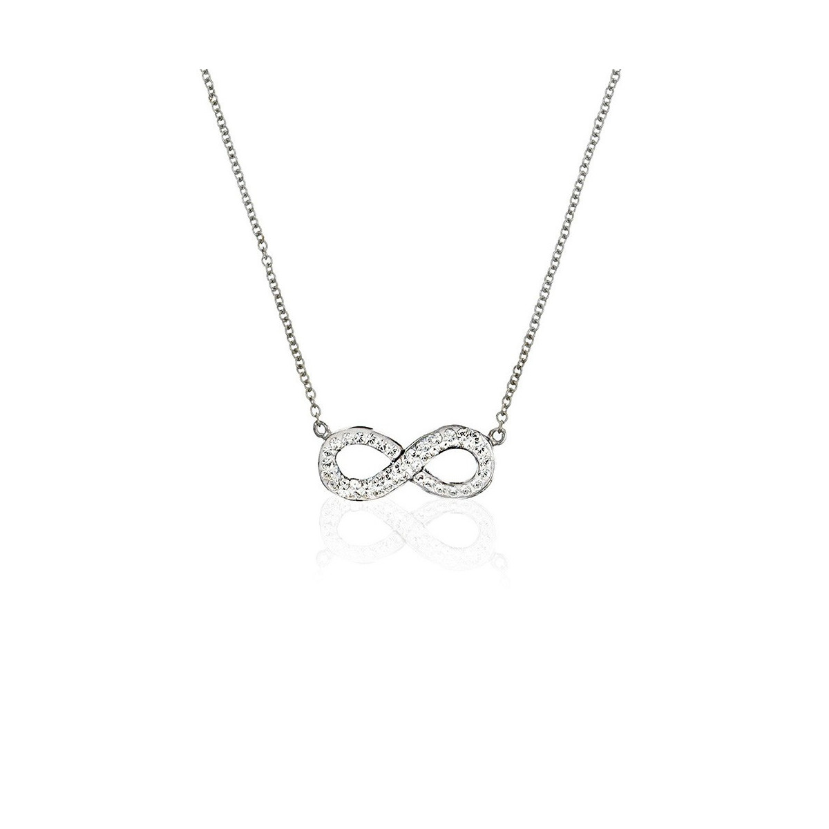 Collier Infinity Orné de Cristaux Swarovski | Mes-bijoux.fr