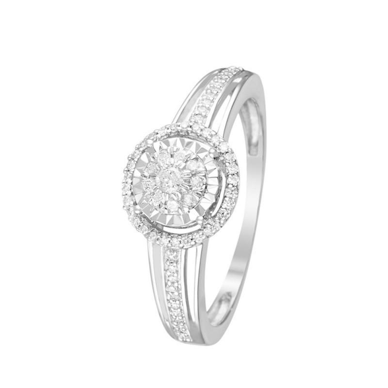 Carats Or Et 0 Bague Blanc Diamants 2 DH29IYWE