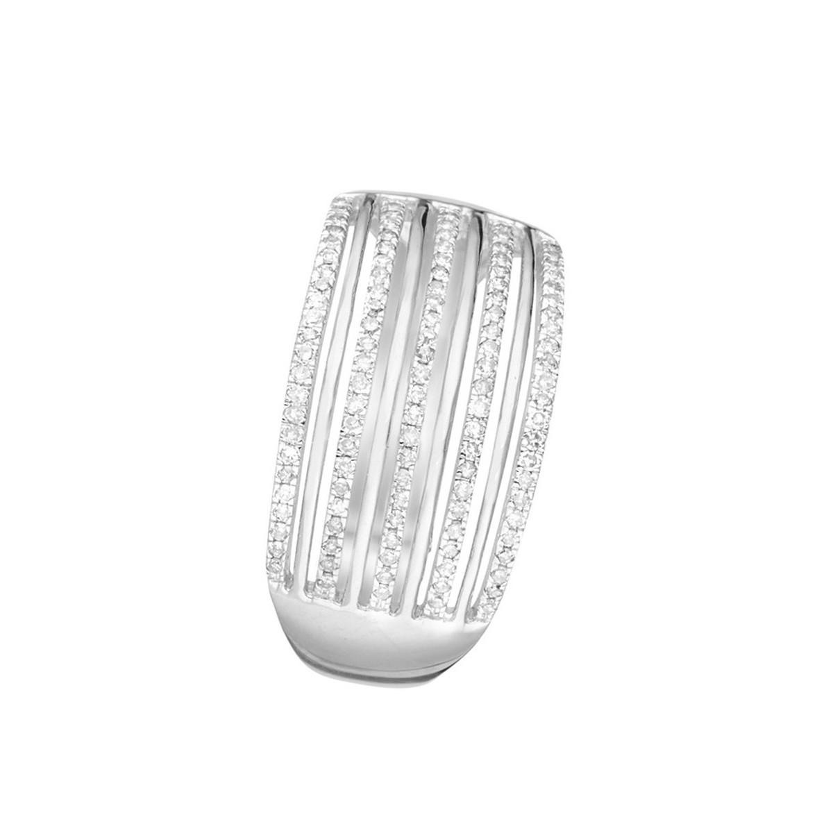"""Bague Or Blanc et Diamants 0,25 carat """"KENDALL"""""""