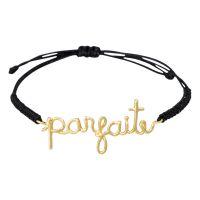 """Bracelet à message laiton doré """"PARFAITE"""""""
