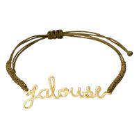Bracelet à message laiton doré