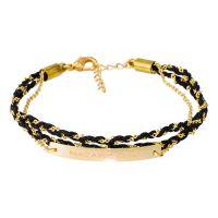 """Bracelet à message laiton doré """"MADAME CHIC"""""""