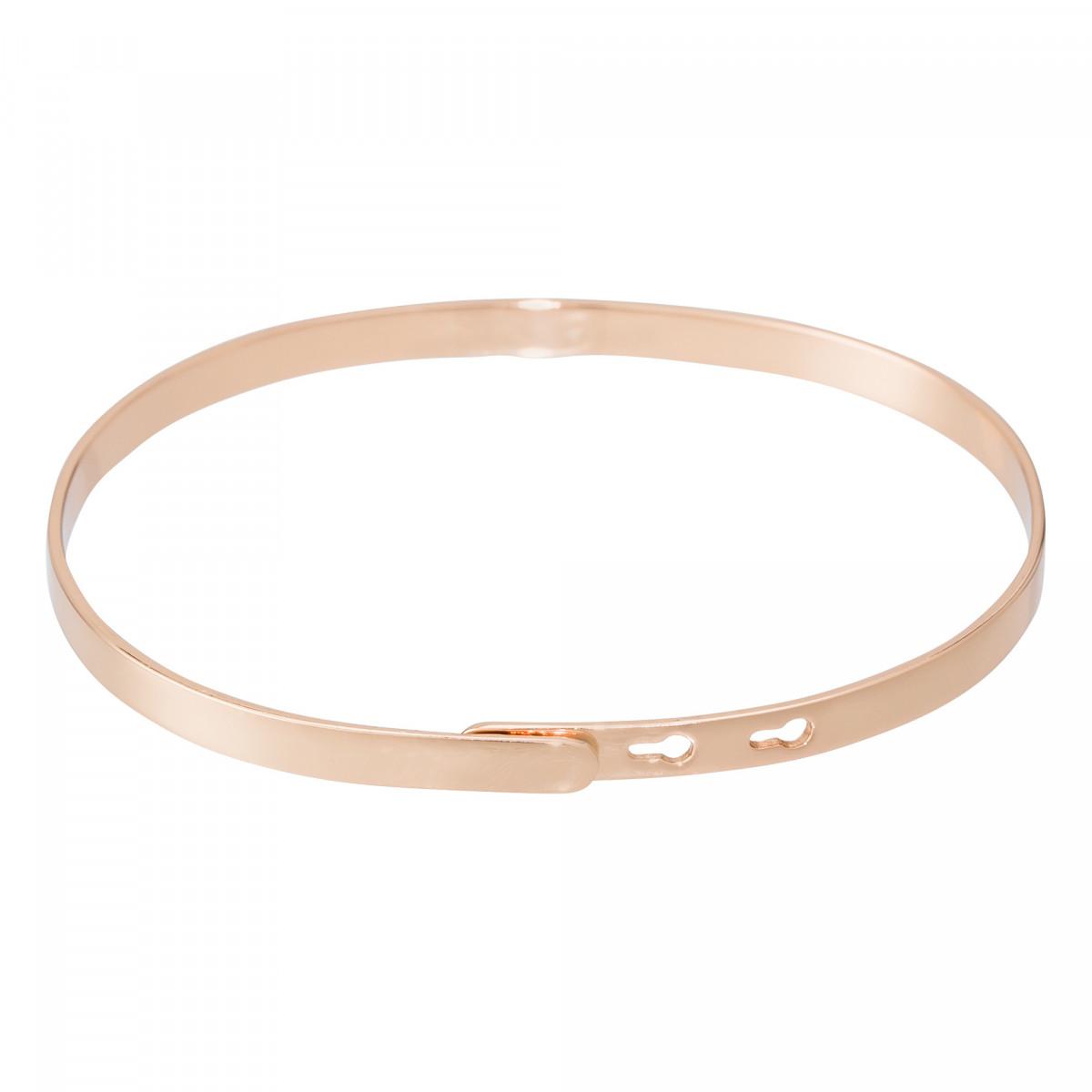 """""""ADDICT DE TOI"""" bracelet jonc rosé à message"""