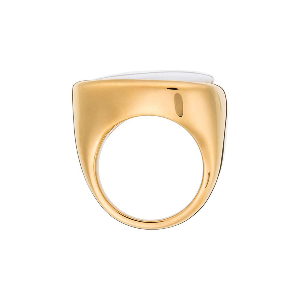 """Bague doré à l'or fin 18 carats """"OPALINE"""""""