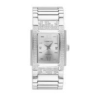 """Torrente - Montre """"Glory"""" Cadran Gris - Boîtier Acier - Bracelet Acier - Diamants 0.01 carats Femme"""