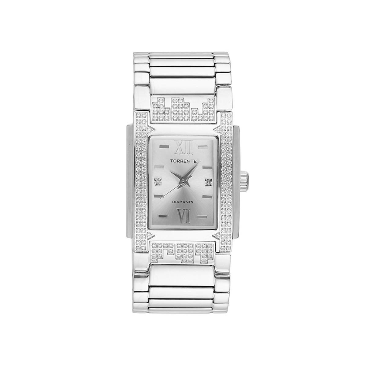 """Montre Femme """"GLORY"""" Bracelet Acier Diamant 0,01/2"""