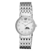 """Torrente - Montre """"Allegra"""" Cadran Blanc - Boîtier Acier - Bracelet Acier - Diamants 0.01 carats Femme"""